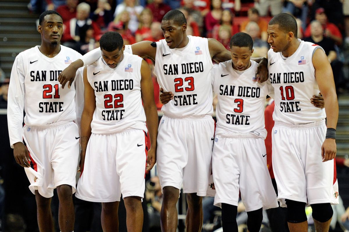 """Best team in California?  """"San Diego Stinkin' State"""" (to quote former Cal quarterback Dave Barr) takes the floor this morning against North Carolina State in its second-round game."""