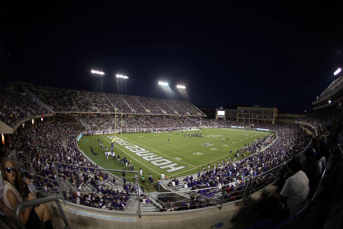 Sep 08, 2012; Fort Worth, TX, USA; General view of the game between the TCU Horned Frogs and Grambling State Tigers during the second half at Amon G. Carter Stadium.  Mandatory Credit: Kevin Jairaj-US PRESSWIRE
