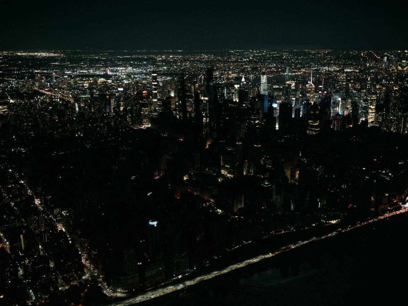 A swath of Manhattan's west side lost power Saturday night.