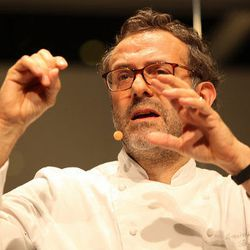 """<a href=""""http://eater.com/archives/2012/07/09/massimo-bottura-interview-july-2012.php"""">Eater Interviews: Massimo Bottura on Tradition as a Way to the Future</a>"""