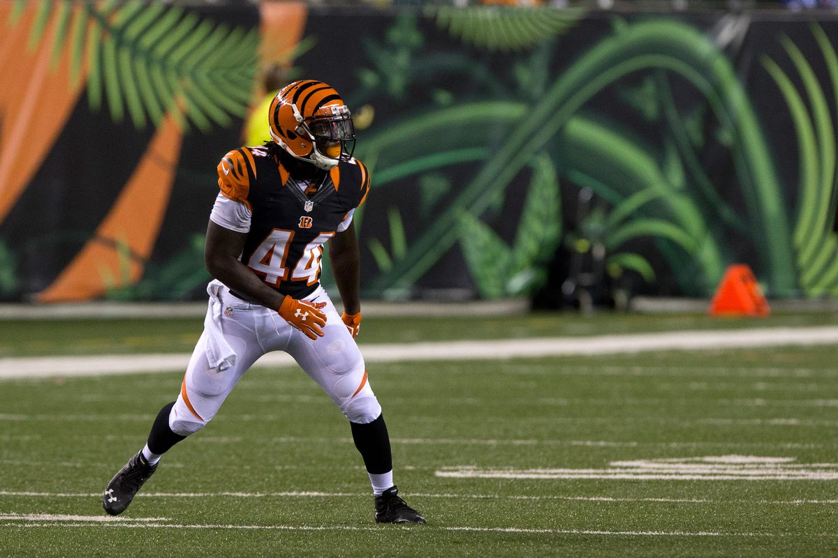 Victor Hampton, seen here with the Bengals, joined the Ravens this offseason. He was charged with DWI in North Carolina.