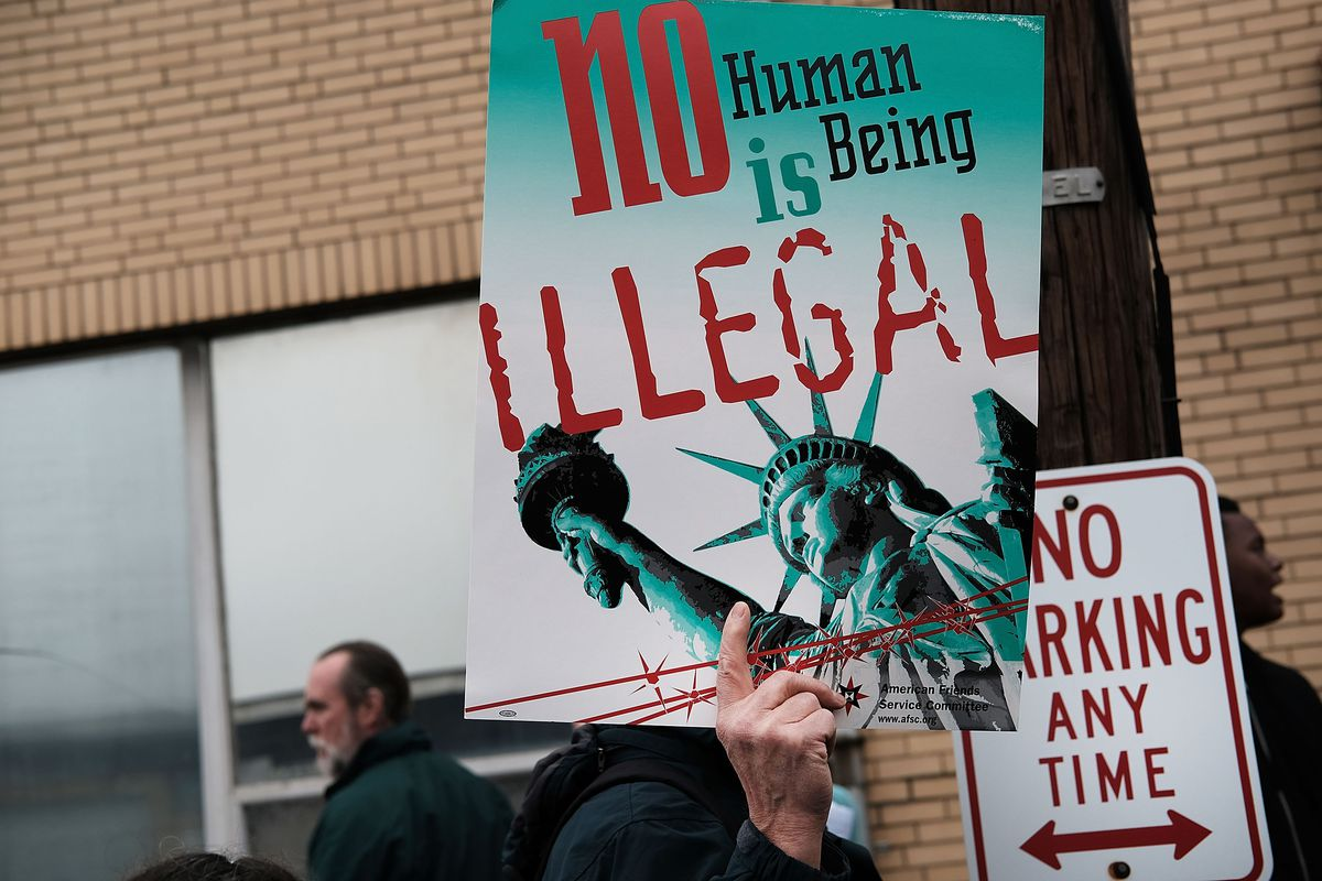 Immigration Activists Protest At ICE Detention Center In New Jersey