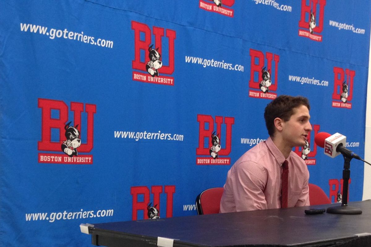 Boston University freshman Nick Roberto was the number one star of the game.