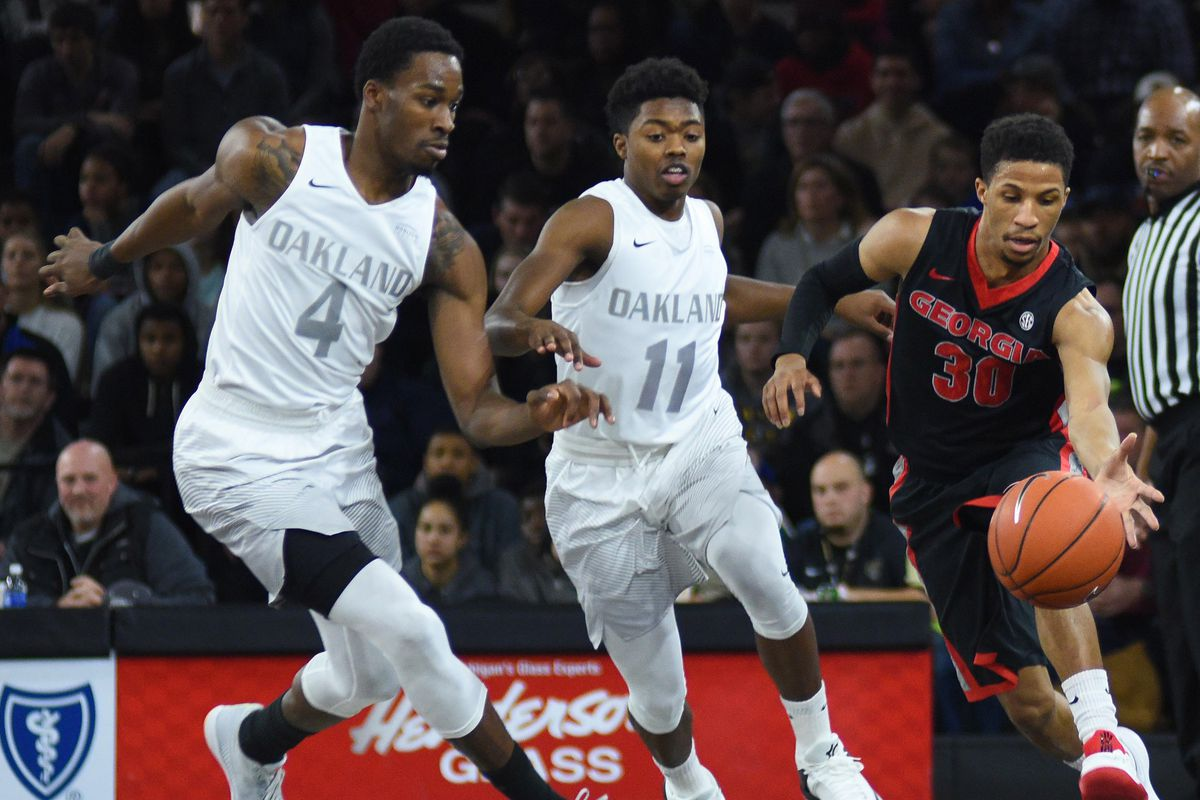 NCAA Basketball: Georgia at Oakland