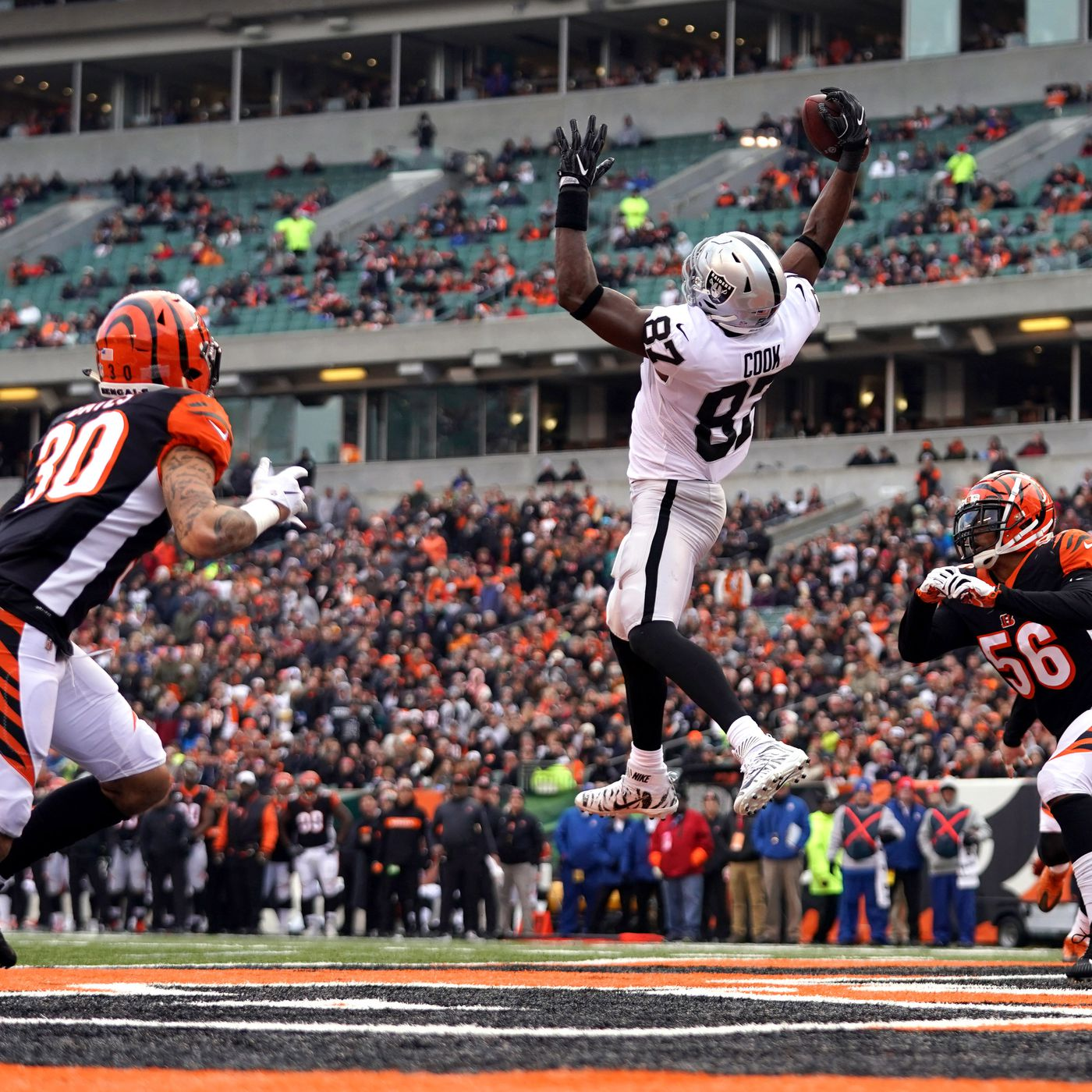 pretty nice 5f2cc 498c3 Raiders TE Jared Cook named to 2019 NFL Pro Bowl replacing ...