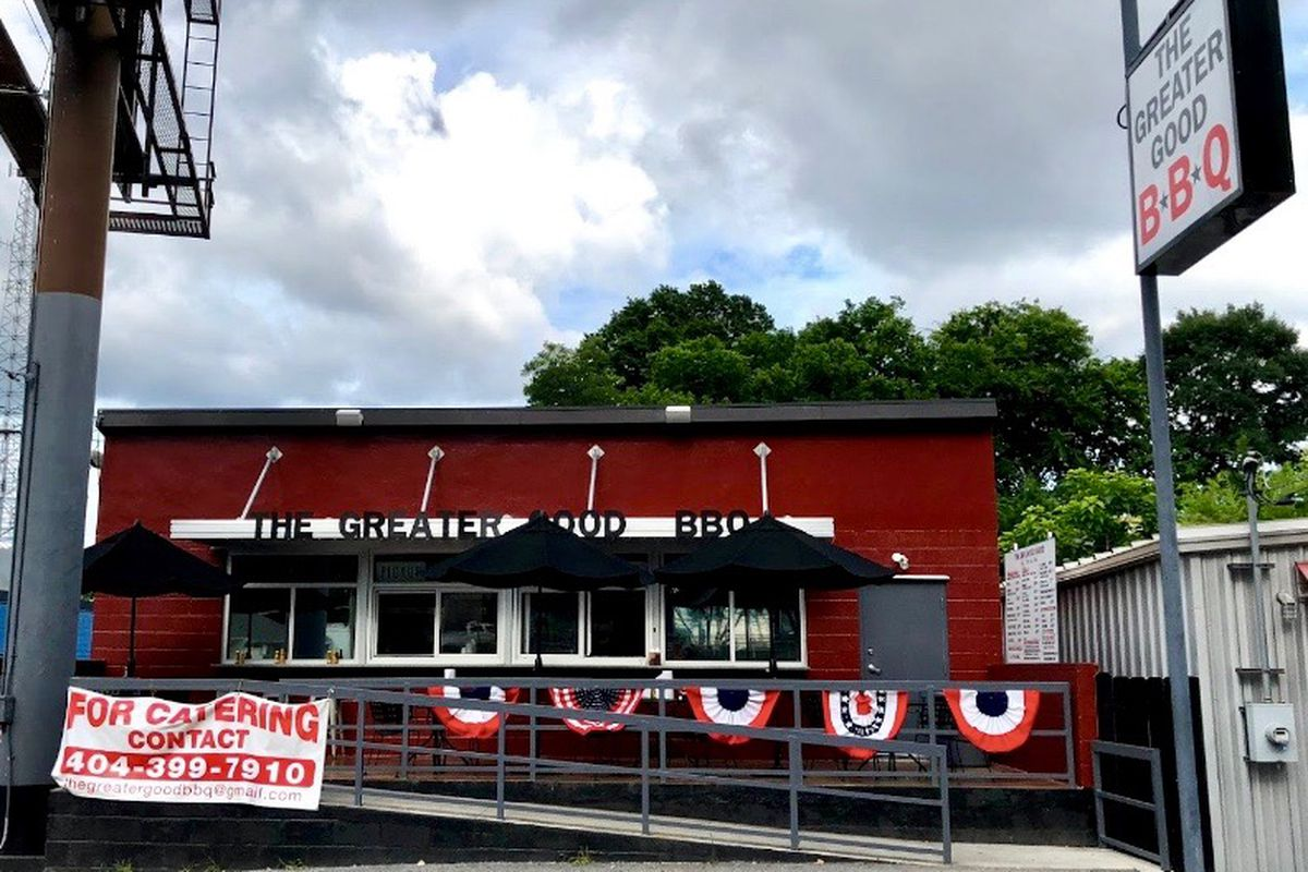The Greater Good Barbecue walk-up restaurant is open on Howell Mill Road