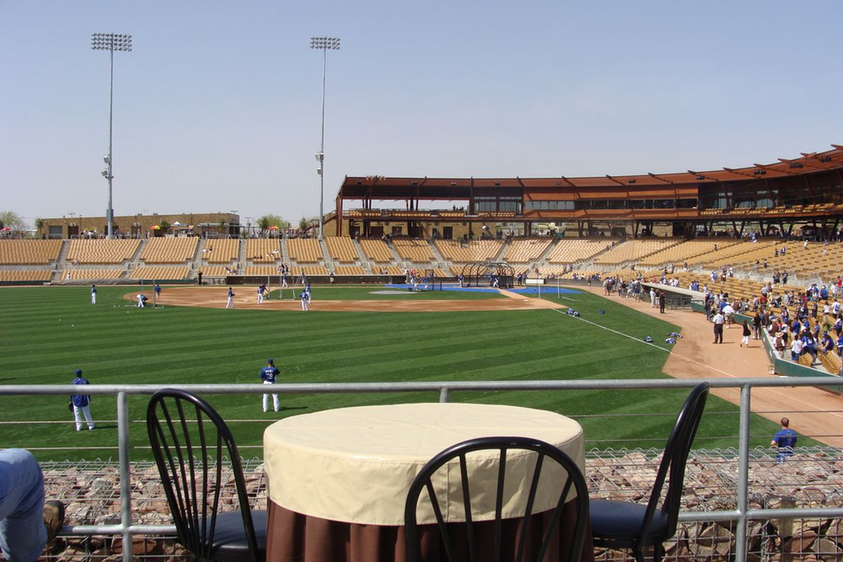 The most important news today: pitchers and catchers report in sixteen days. (Photo by David Young)