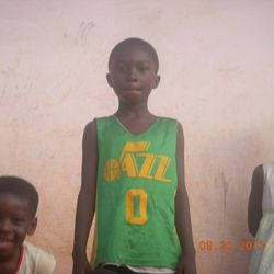 """Parker Strong found his old Jr. Jazz jersey while serving an LDS mission in Ghana. """"It was really just there to tell me that I was loved and cared for and that my heavenly father was watching over me,"""" Strong said."""