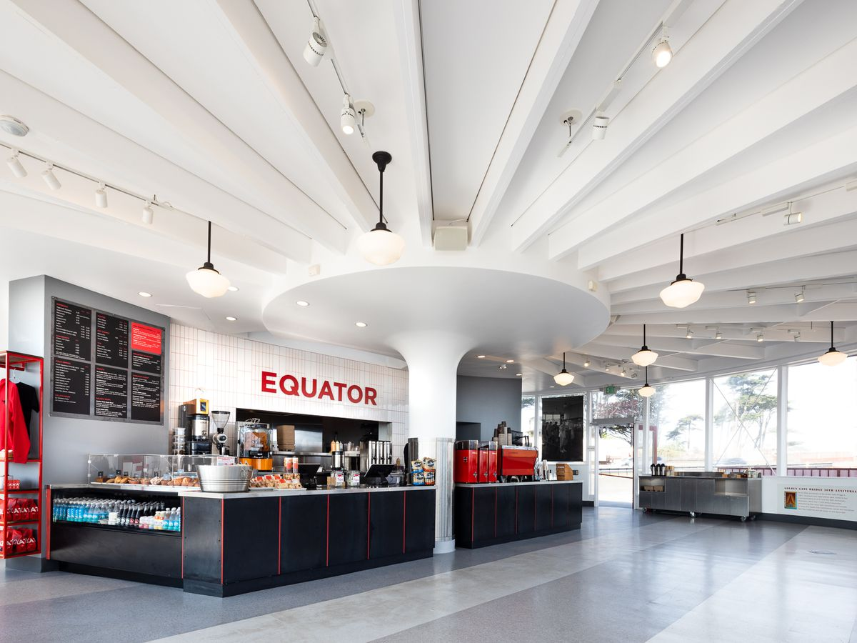 Inside Equator Coffees at Round House Cafe