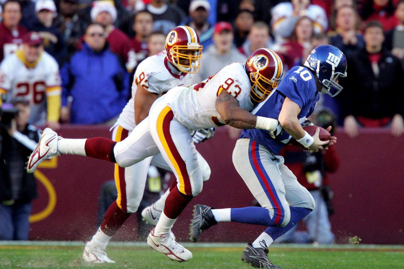 Redskins By The (Jersey) Numbers- #93 Phillip Daniels
