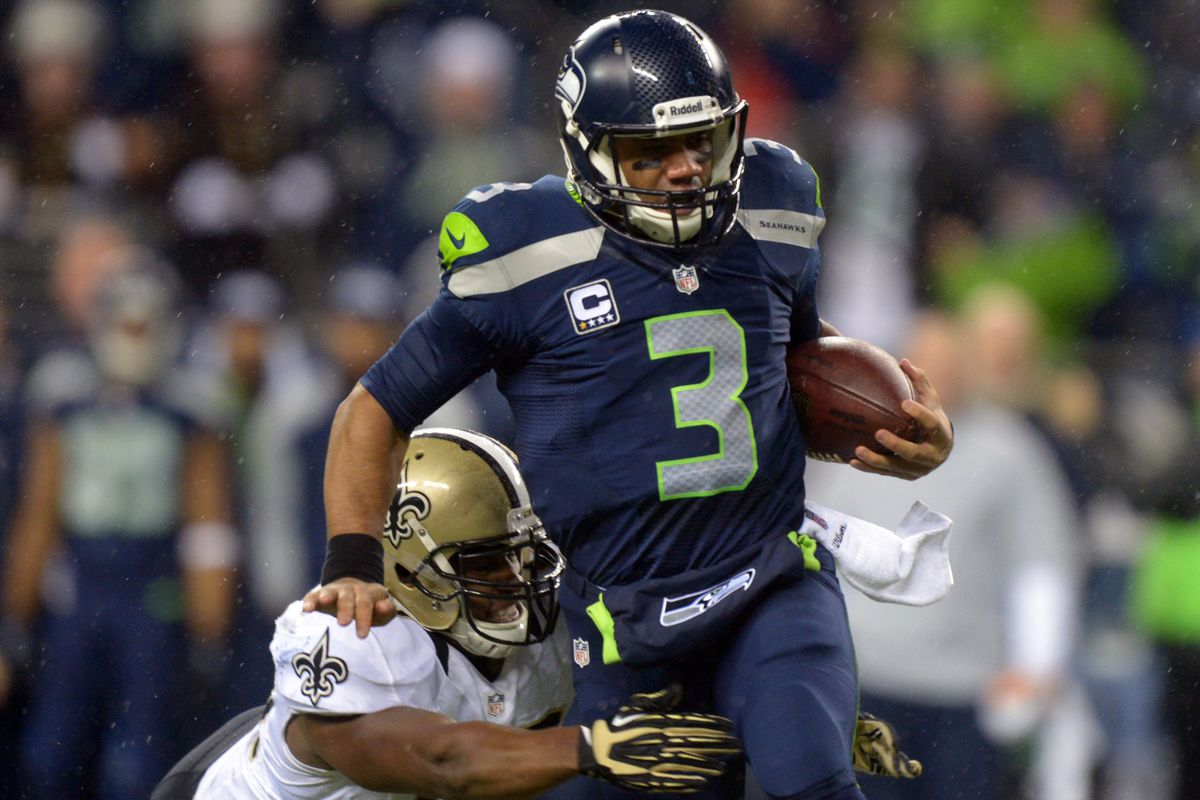 Russell Wilson dispatched of the Saints' defense en route to clinching a playoff berth.