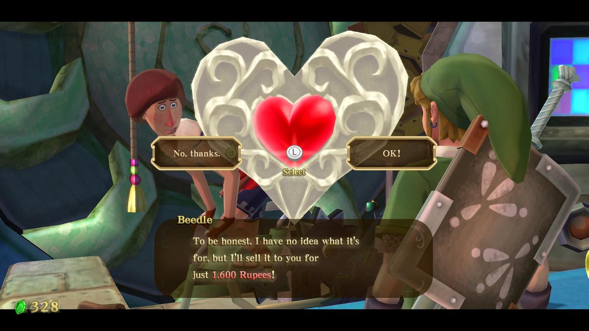 A Piece of Heart in The Legend of Zelda: Skyward Sword HD