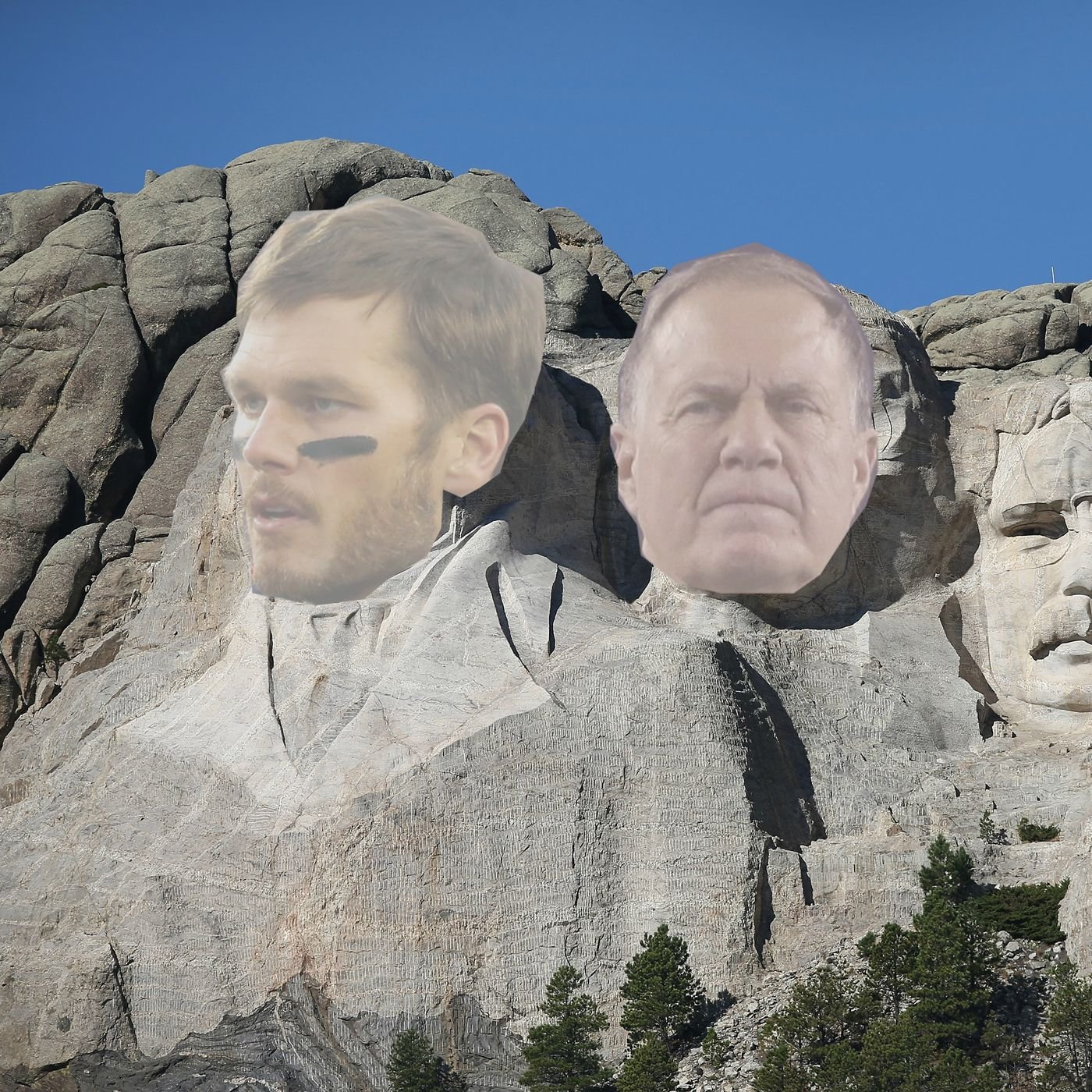 Who joins tom brady and bill belichick on the patriots mount