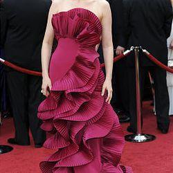 Vera Farmiga arrives at  the 82nd Academy Awards Sunday.