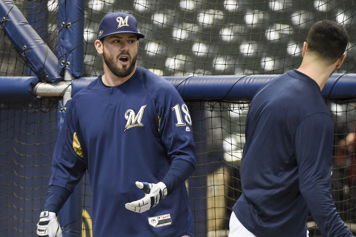 best sneakers 81775 f6804 Brewers bring Mike Moustakas back on one-year deal, per ...