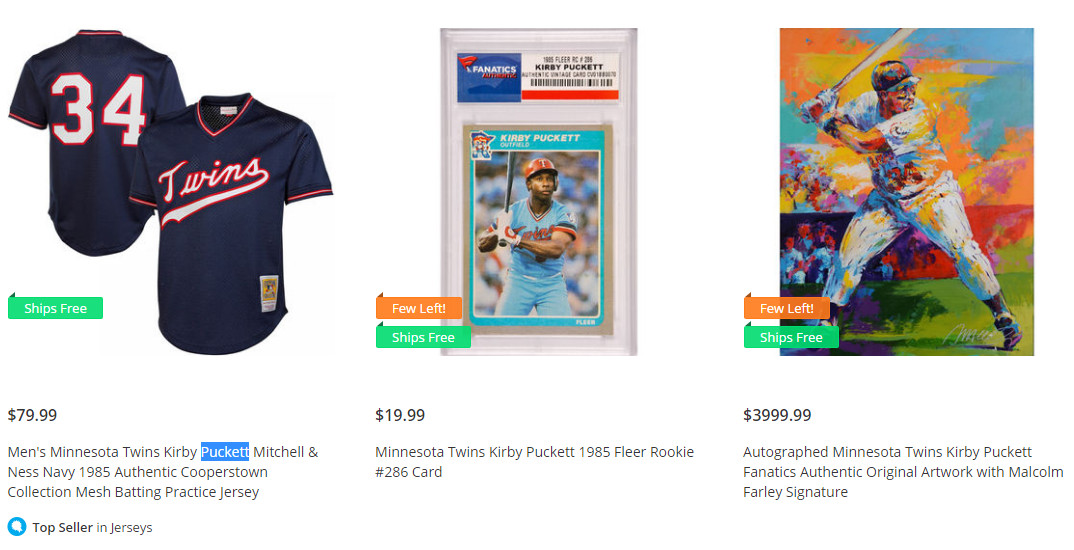 watch 28389 3fda4 Why is it so hard to find new Kirby Puckett stuff? - Twinkie ...