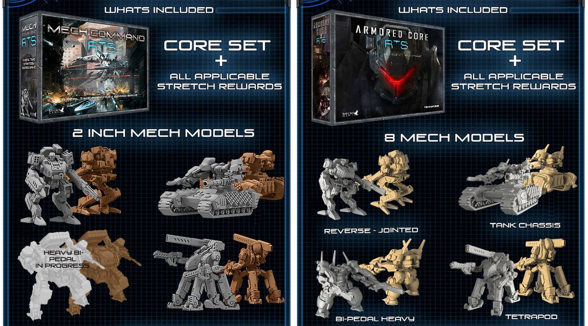 Armored Core board game finds success on Kickstarter, then