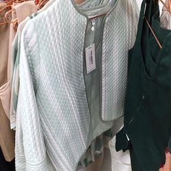 Meshit# cropped teal jacket, $85 (was $175)