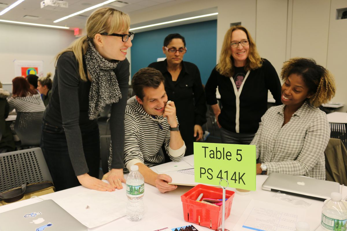 New York City teachers in 2017 spent time at a training for Computer Science for All, a citywide initiative to broaden access to computer science classes.