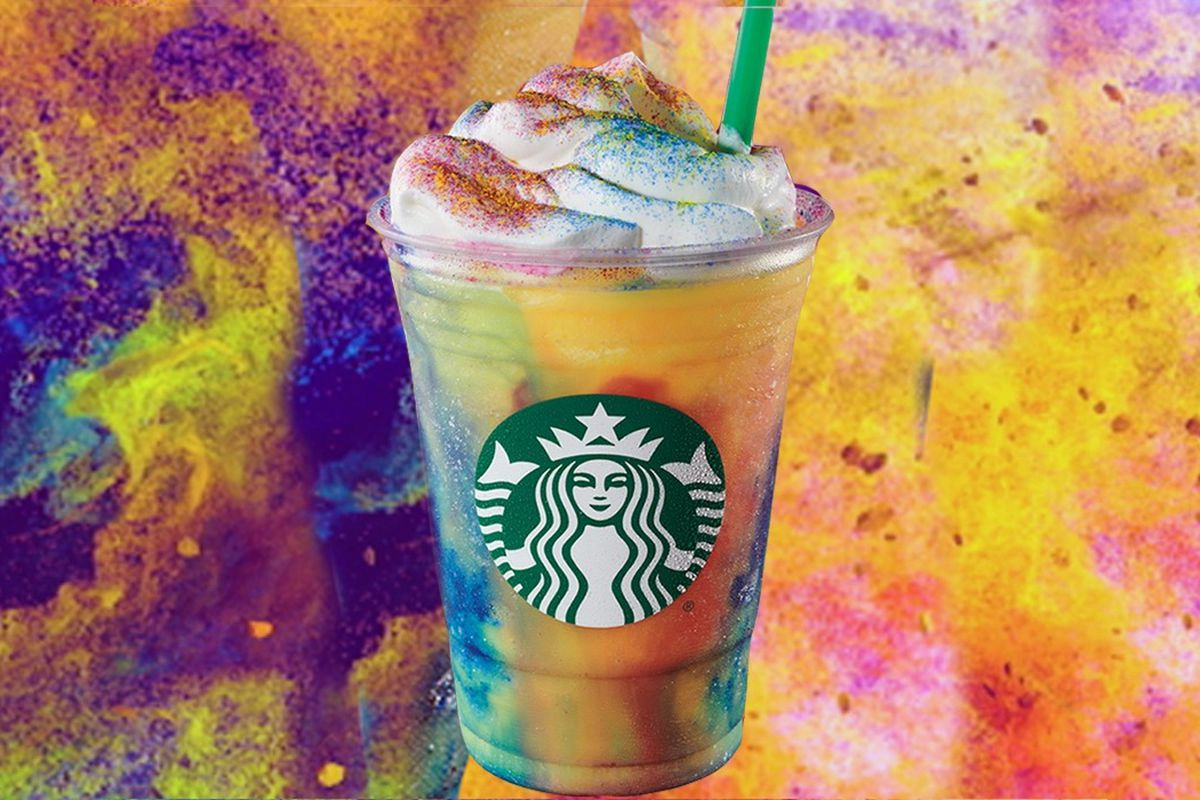 Starbucks serving groovy new Tie Dye Frappuccino, only while supplies last