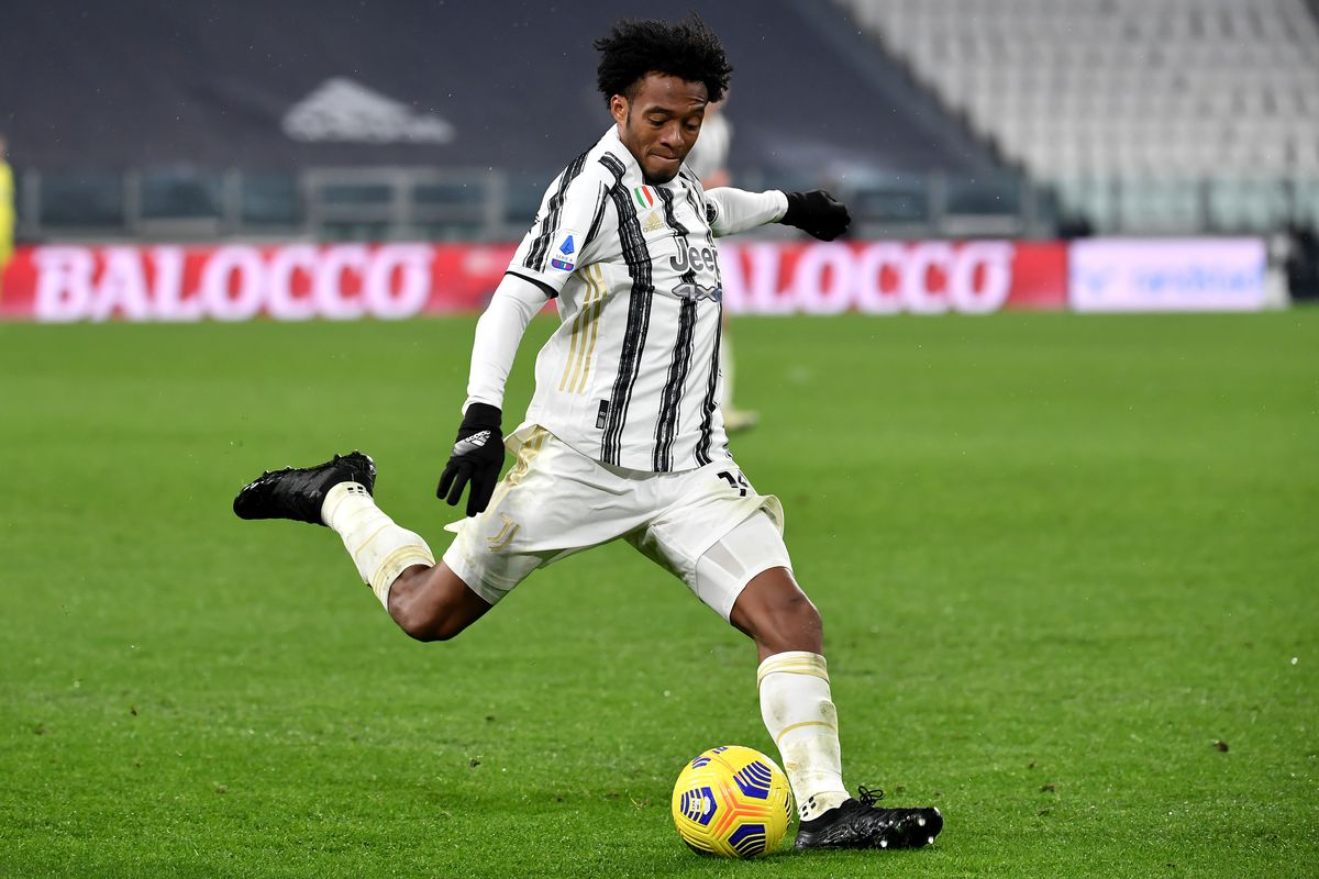 Juan Cuadrado of Juventus FC in action during the Serie A...