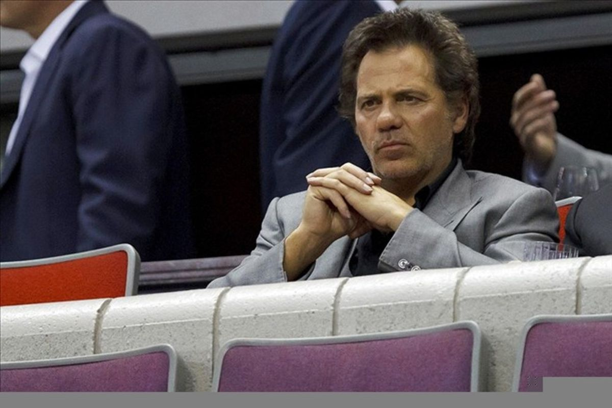 Feb. 28, 2012; Auburn Hills, MI, USA; Detroit Pistons owner Tom Gores watches the game against the Philadelphia 76ers at The Palace. Philadelphia won 97-68. Mandatory Credit: Rick Osentoski-US PRESSWIRE