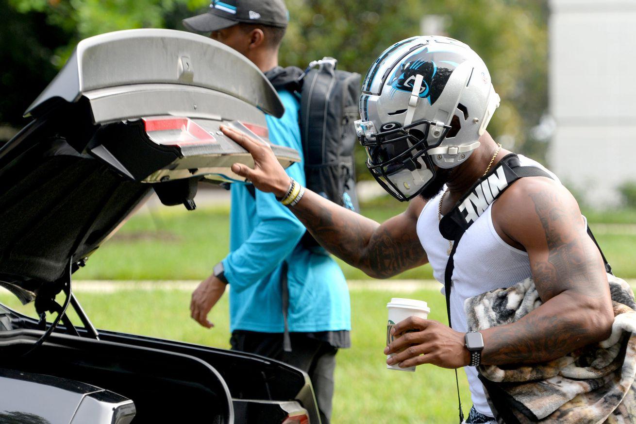 NFL: Carolina Panthers Arrive for Camp