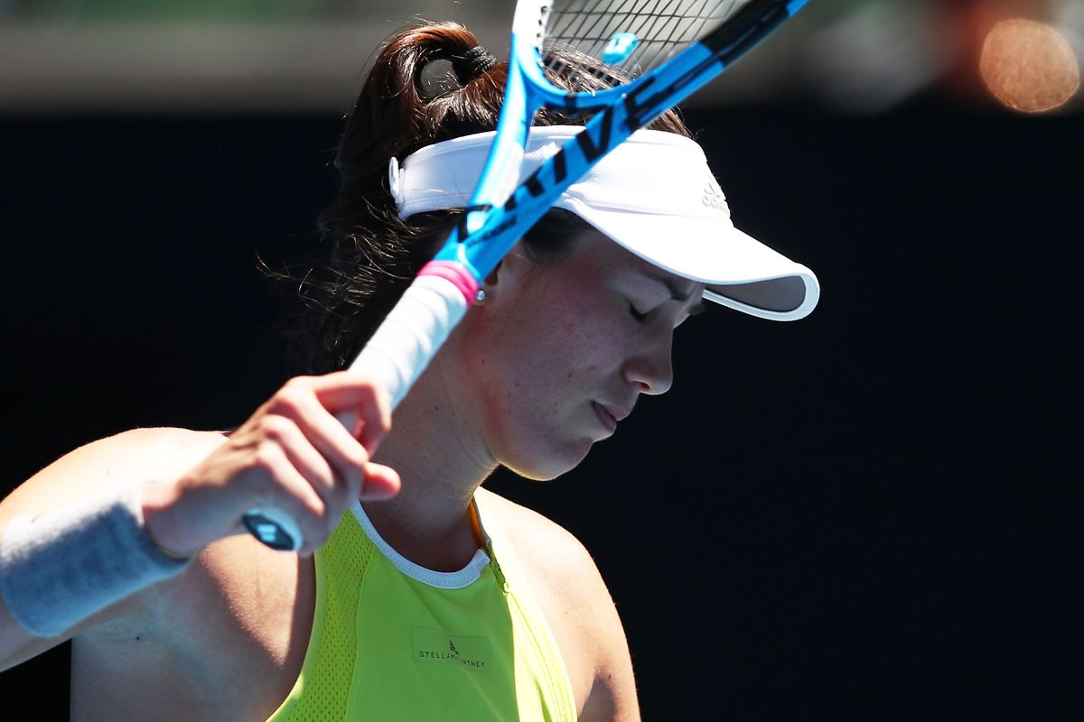 Muguruza suffers blistering exit to Hsieh at Open