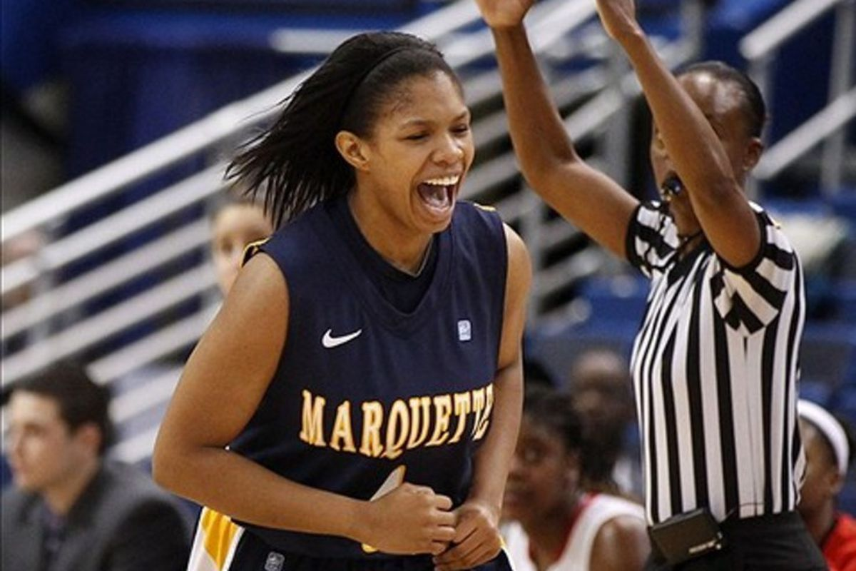 Arlesia Morse led Marquette with 15 points against Wisconsin.