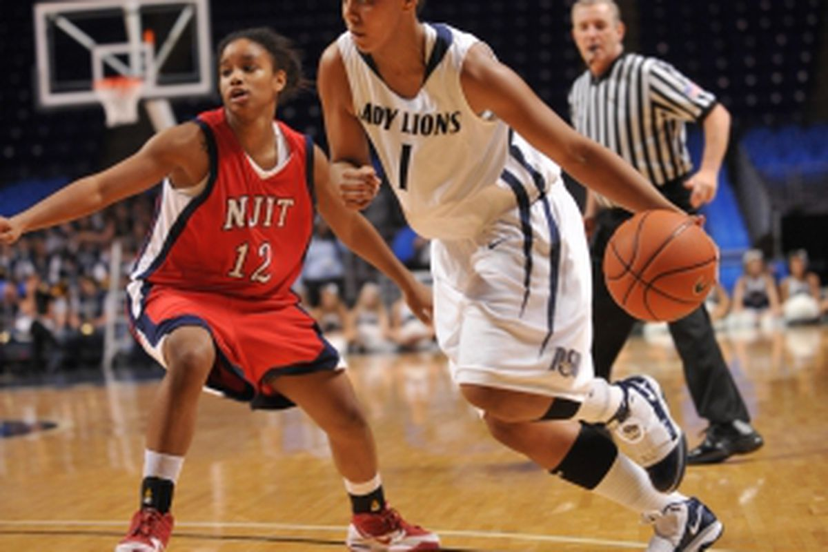 Although Penn State University guard Tyra Grant's shooting might hurt her draft stock, her aggression in getting to the basket could be an asset. <em>(Photo by Mark Selders)</em>
