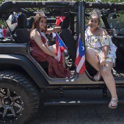 Genesis Mendez and Stephenie Santiago with Humboldt Park Jeep. | Rick Majewski/For the Sun-Times.
