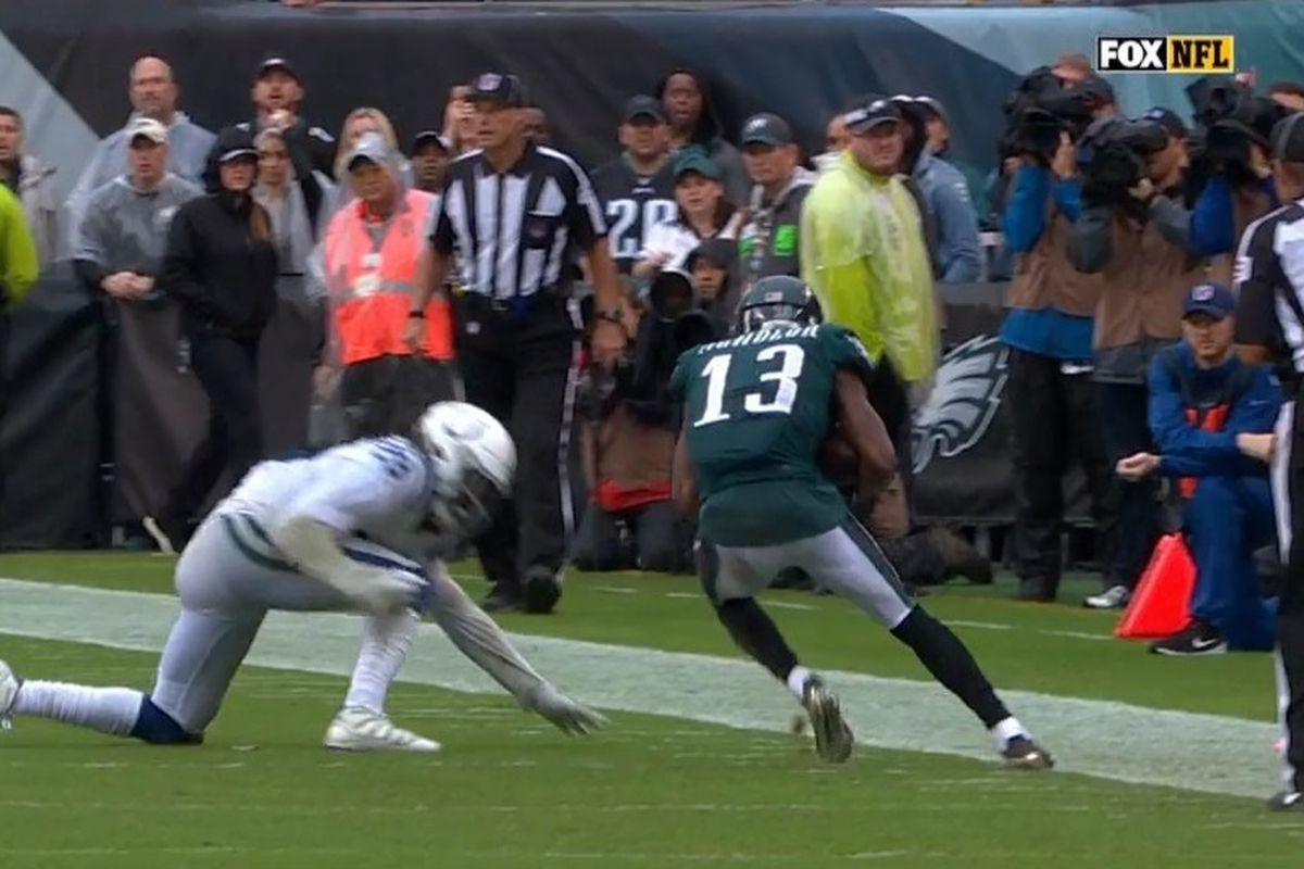 Colts vs Eagles  How a blown call cost the Colts a chance to win ... 8c568f266