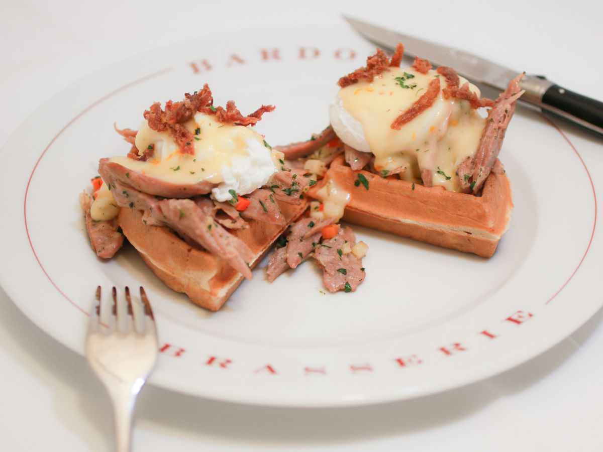 Hunter's waffle at Bardot Brasserie