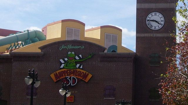 the exterior of Muppet Vision 3D from 1991 to 2004