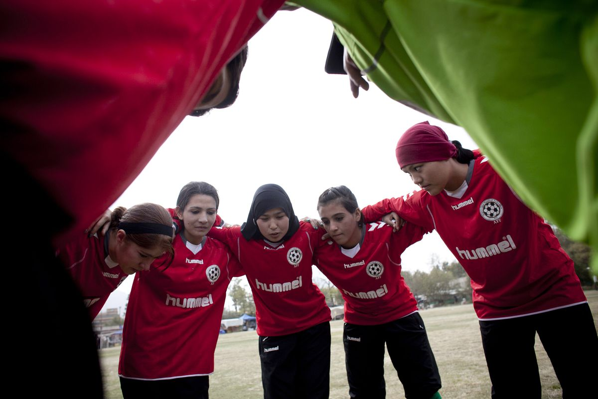 Afghan Women's National Football Team Play A Match Against The ISAF