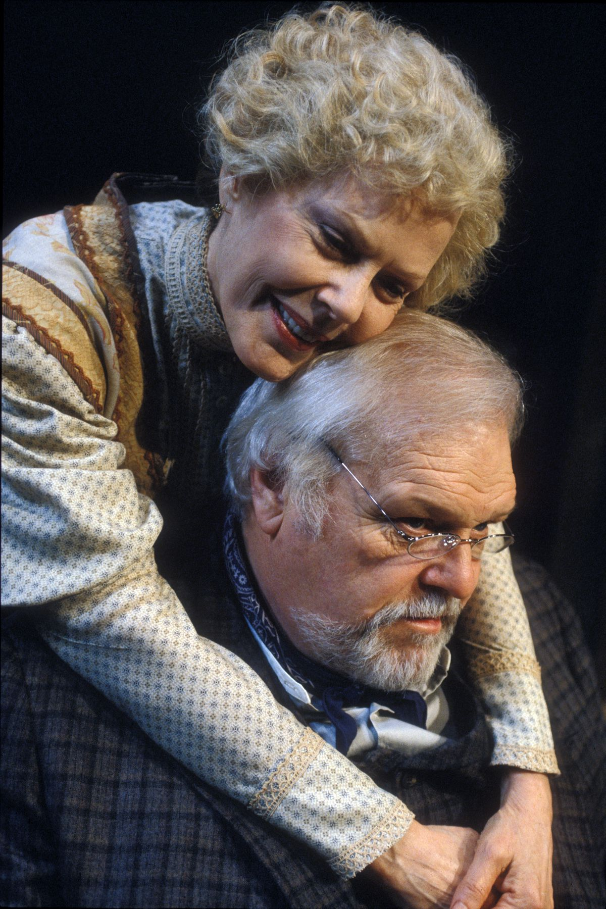 """Brian Dennehy with Pamela Payton-Wright in Goodman Theatre's 2002 production of """"Long Day's Journey Into Night."""" 