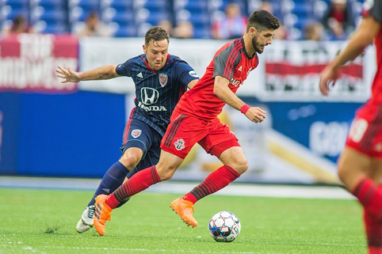 USL Photo - Toronto FC II's Jon Bakero on the ball against Indy Eleven in his debut for the USL side