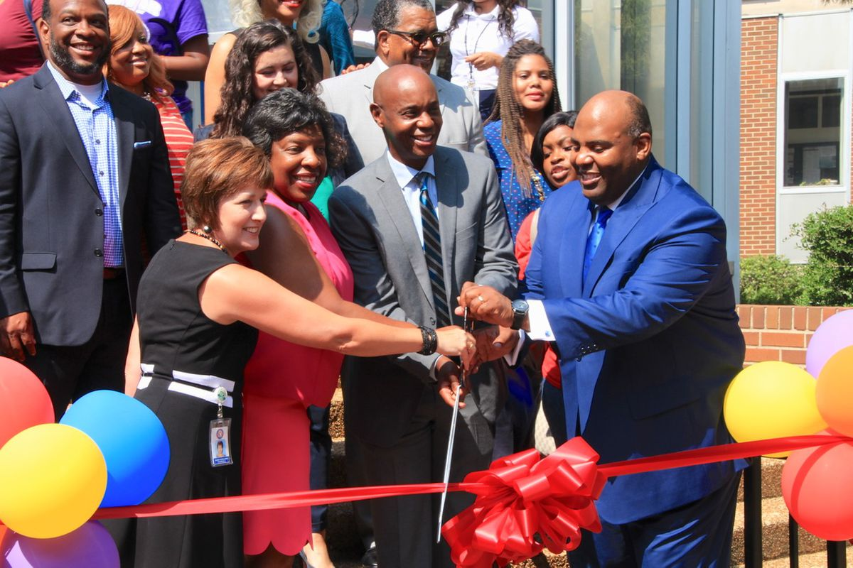 Superintendent Dorsey Hopson joined school board members and teachers last August to celebrate a new school supplies depot for teachers in Shelby County Schools. On Monday, Hopson unveiled a 2017-18 budget that proposes more investments in teachers and schools.