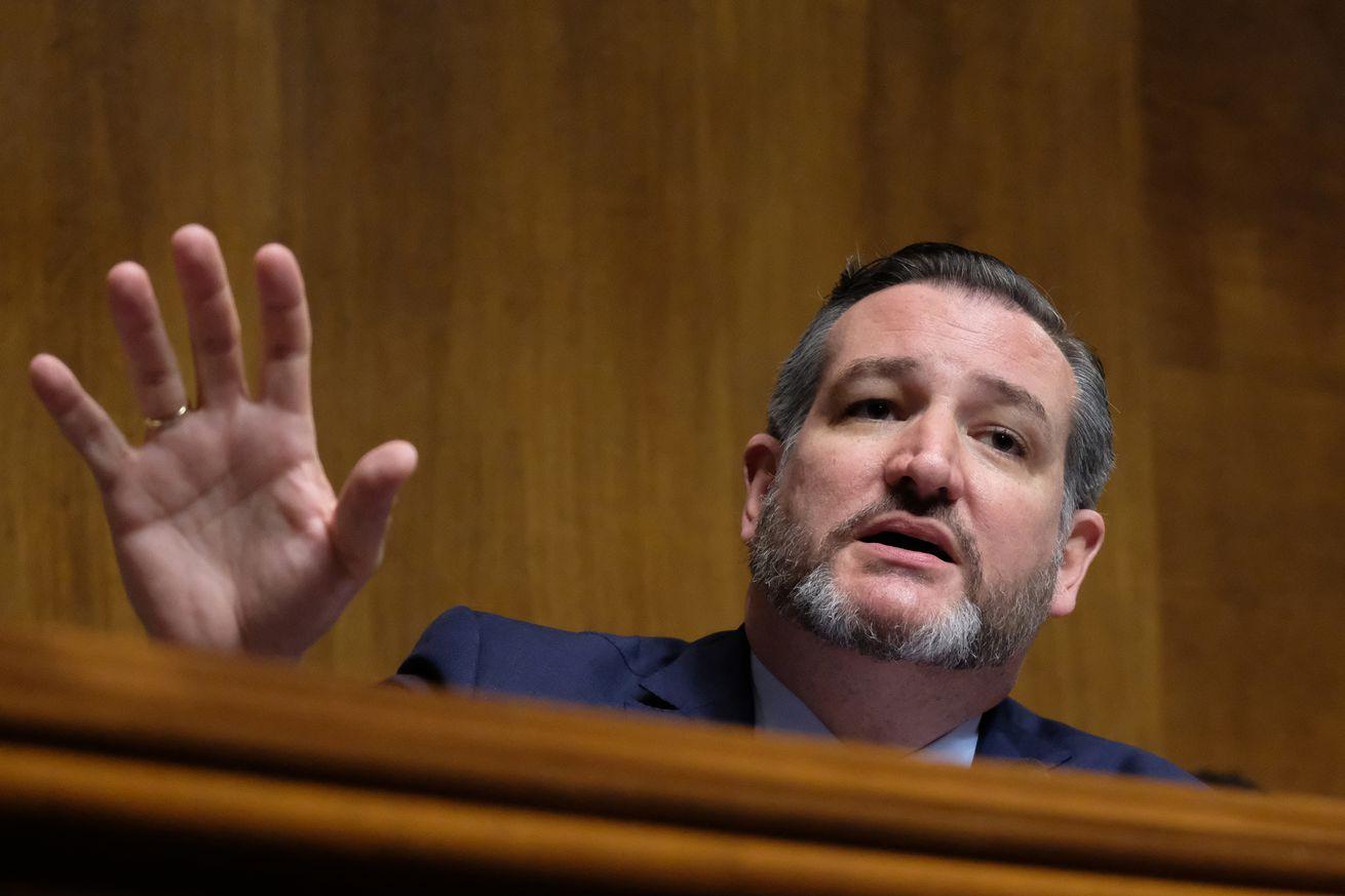 Sen.Ted Cruz (R-TX) speaks at a Senate Judiciary Committee hearing Wednesday in Washington, DC.