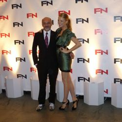 Person of the Year award winner Christian Louboutin and his presenter Blake Lively