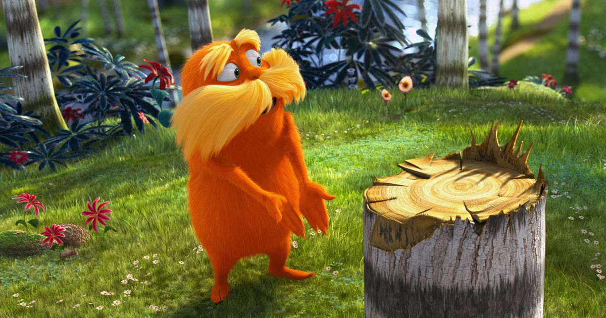 the lorax talking about a tree
