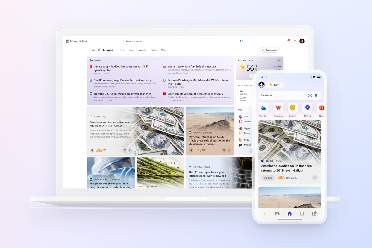 Microsoft Start is a personalized news feed designed for Windows 11,  mobile, and more - The Verge