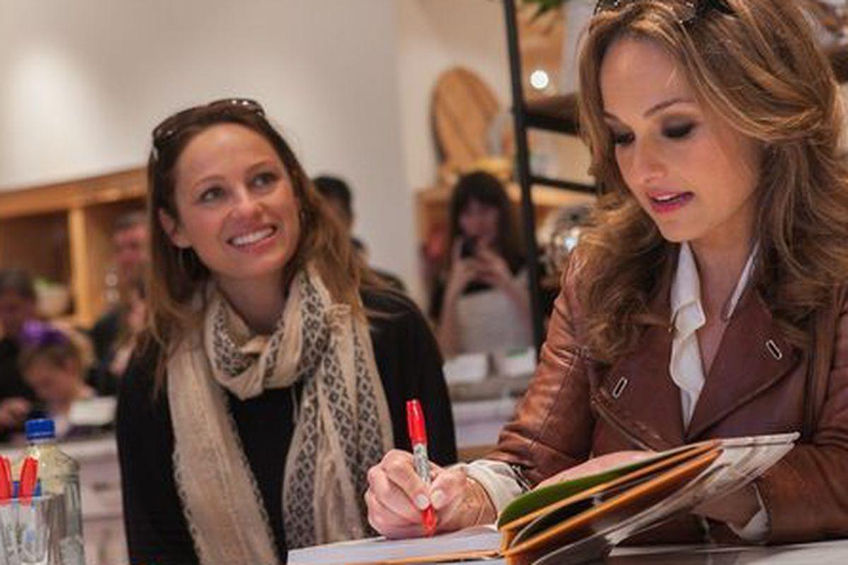Giada De Laurentiis signs her cookbook in Williams-Sonoma, Dallas.