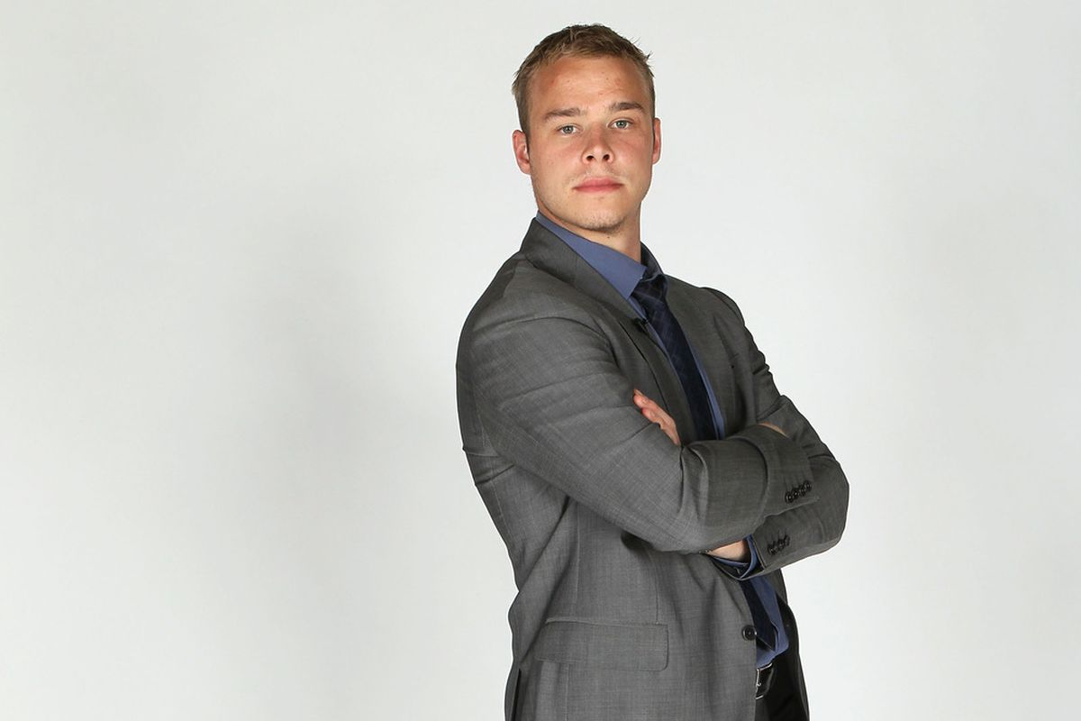 LAS VEGAS, NV - JUNE 22:  Dustin Brown of the Los Angeles Kings poses for a portrait during the 2011 NHL Awards at the Palms Casino Resort June 22, 2011 in Las Vegas, Nevada.  (Photo by Jeff Gross/Getty Images)