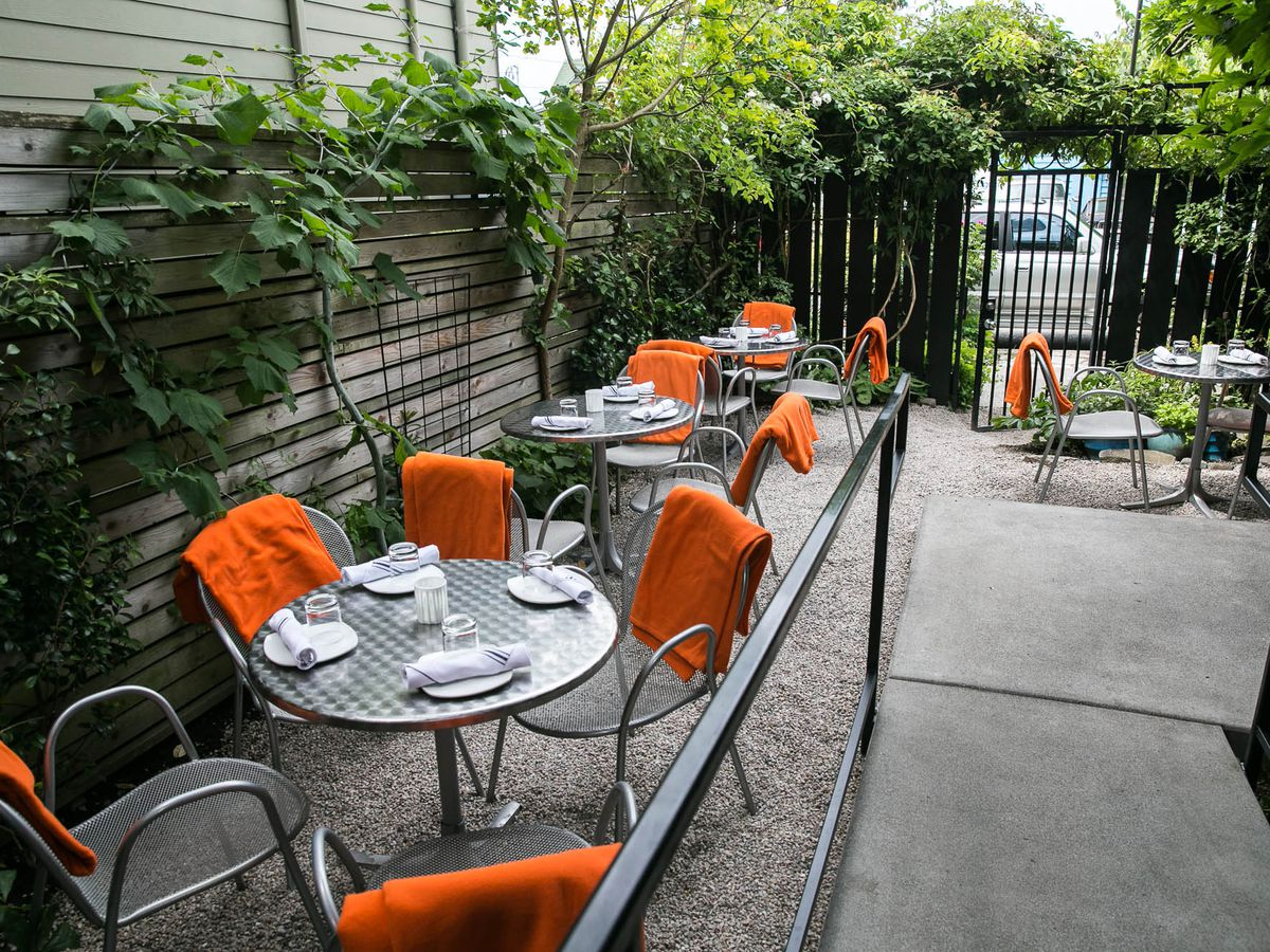 The patio at Brimmer & Heeltap