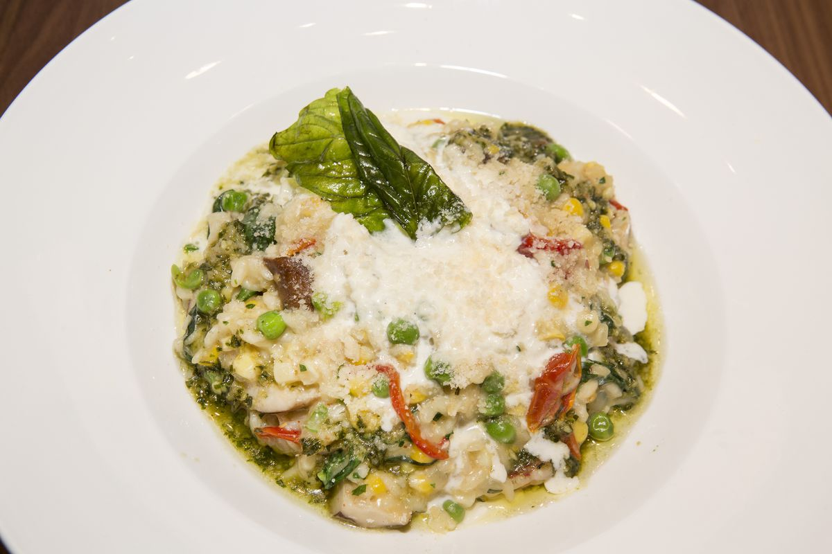 Roasted chicken risotto