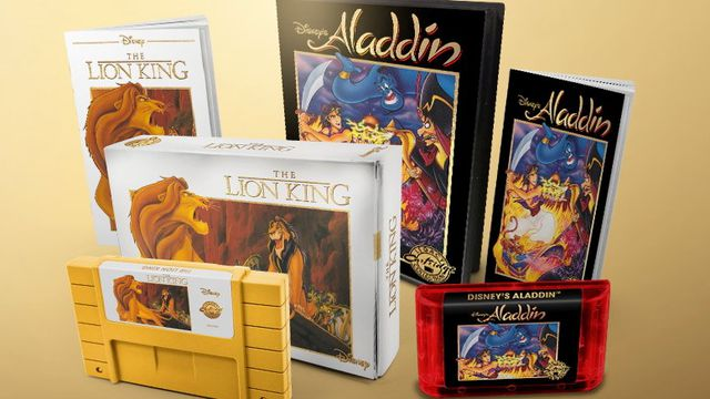 Packaging for The Lion King and Aladdin