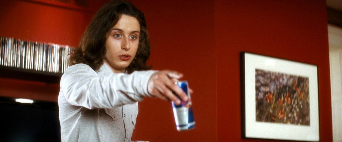 charlie (rory culkin) explains the tropes of serial killer movies and scream 4 while holding a red bull