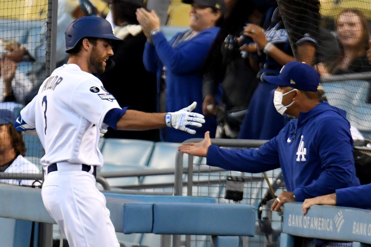 Los Angeles Dodgers defeated the Washington Nationals 9-5 during a baseball game at Dodger Stadium.
