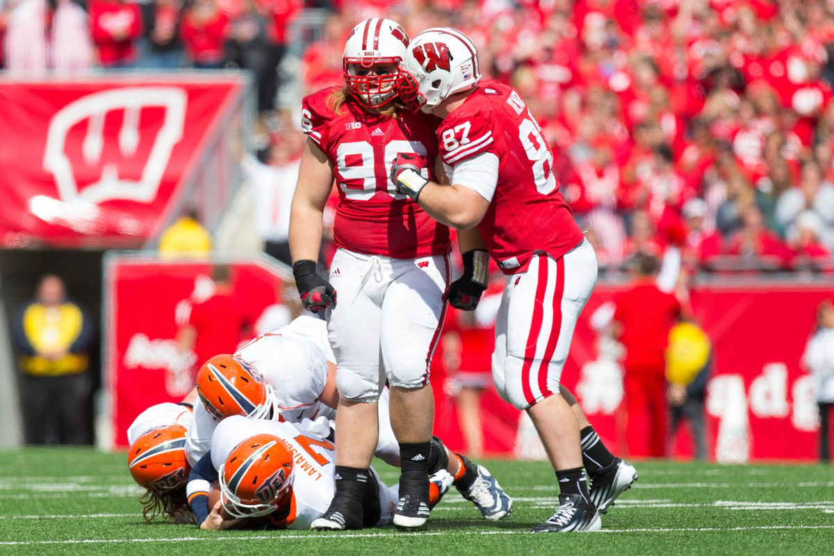 Beau Allen (96) and Ethan Hemer (87) head up an experienced group in the defensive trenches.